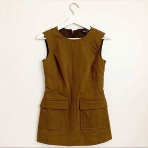 Brooks Brothers green mini dress tunic 0 NWT